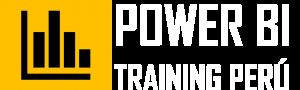 New Logo Power BI Training Perú Blanco